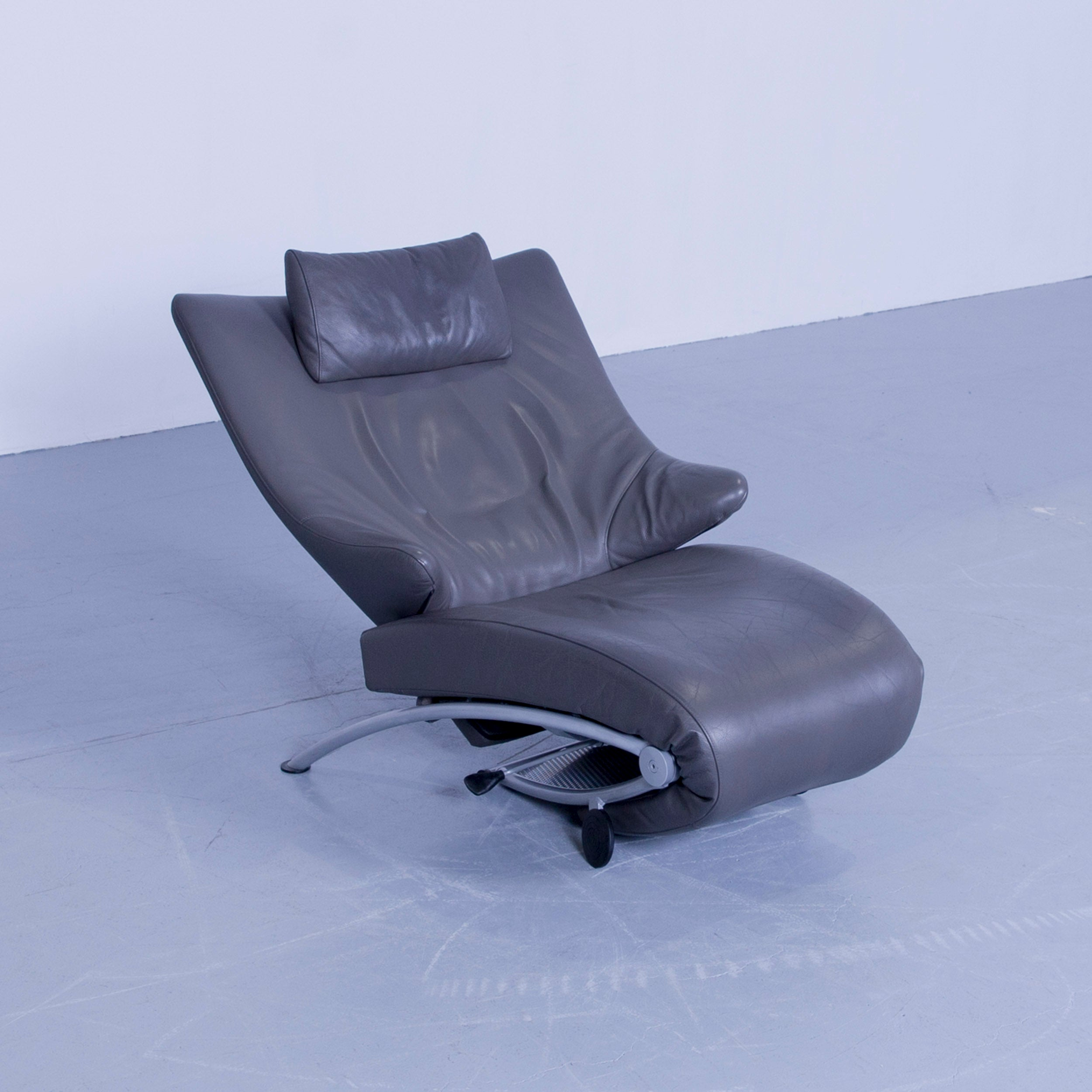 Egg Chair Gebraucht Wk Wohnen Solo 699 Designer Chair Leather Grey Function Couch Modern