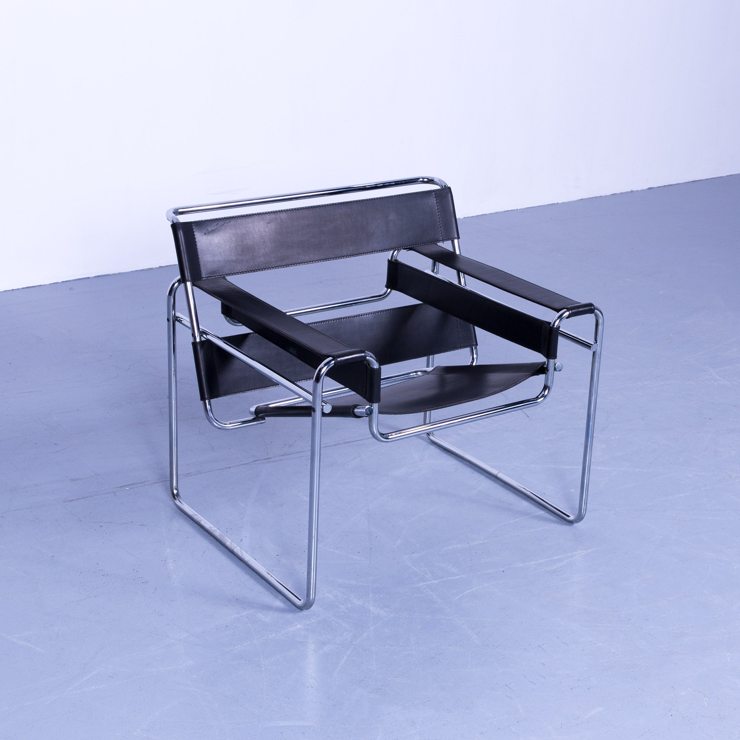 Sessel Marcel Breuer Knoll International Wassily Designer Armchair By Marcel Breuer Black Leather