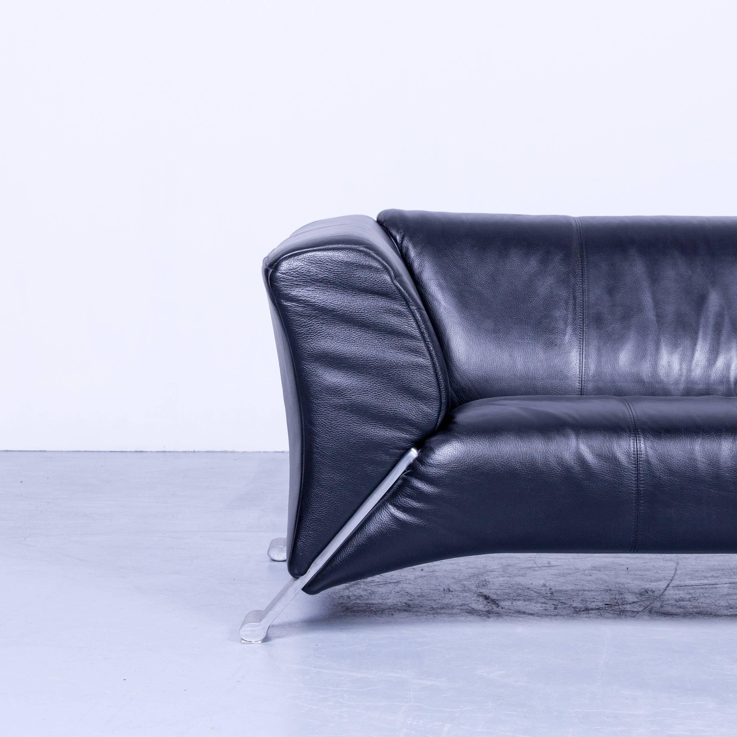 Rolf Benz 322 Sessel Set Of Two Rolf Benz 322 Designer Sofa Black Three And Two Seat Leather Couch