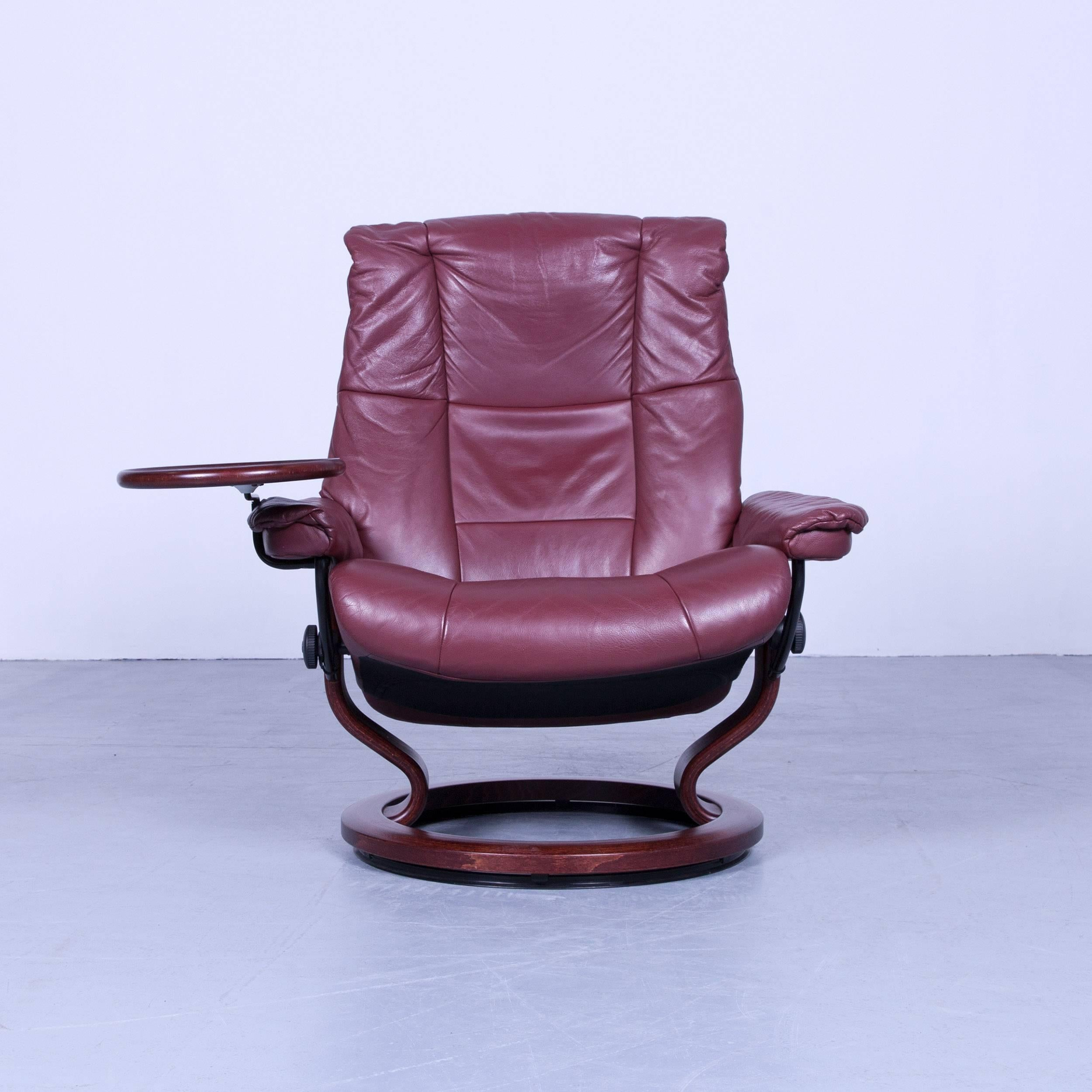 Stressless Ekornes Sessel Ekornes Stressless Mayfair Armchair And Footstool Red Leather Recliner Chair