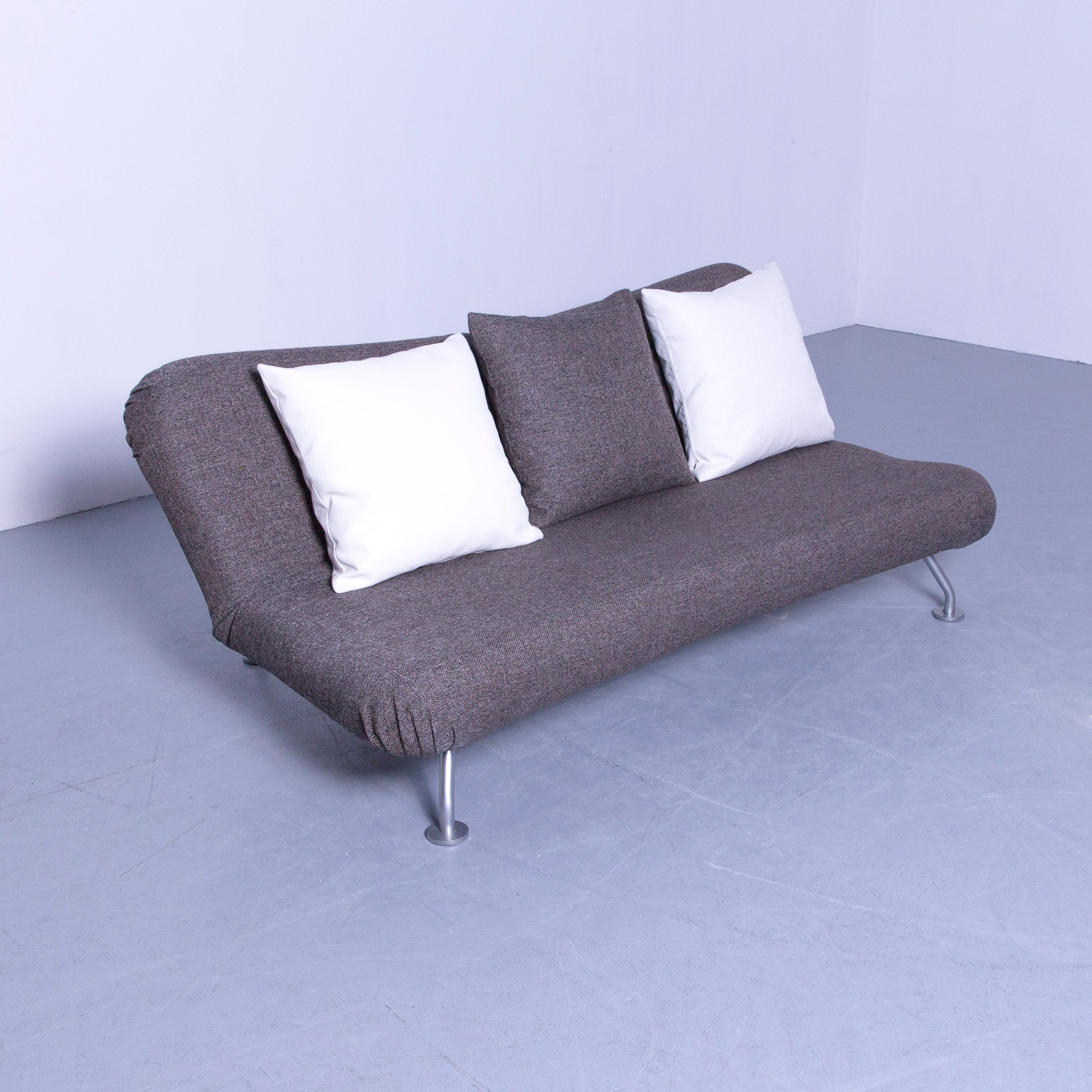 Sofa Funktion Brühl Sippold More Sofa Fabric Grey Three Seat Couch Sleeping Function