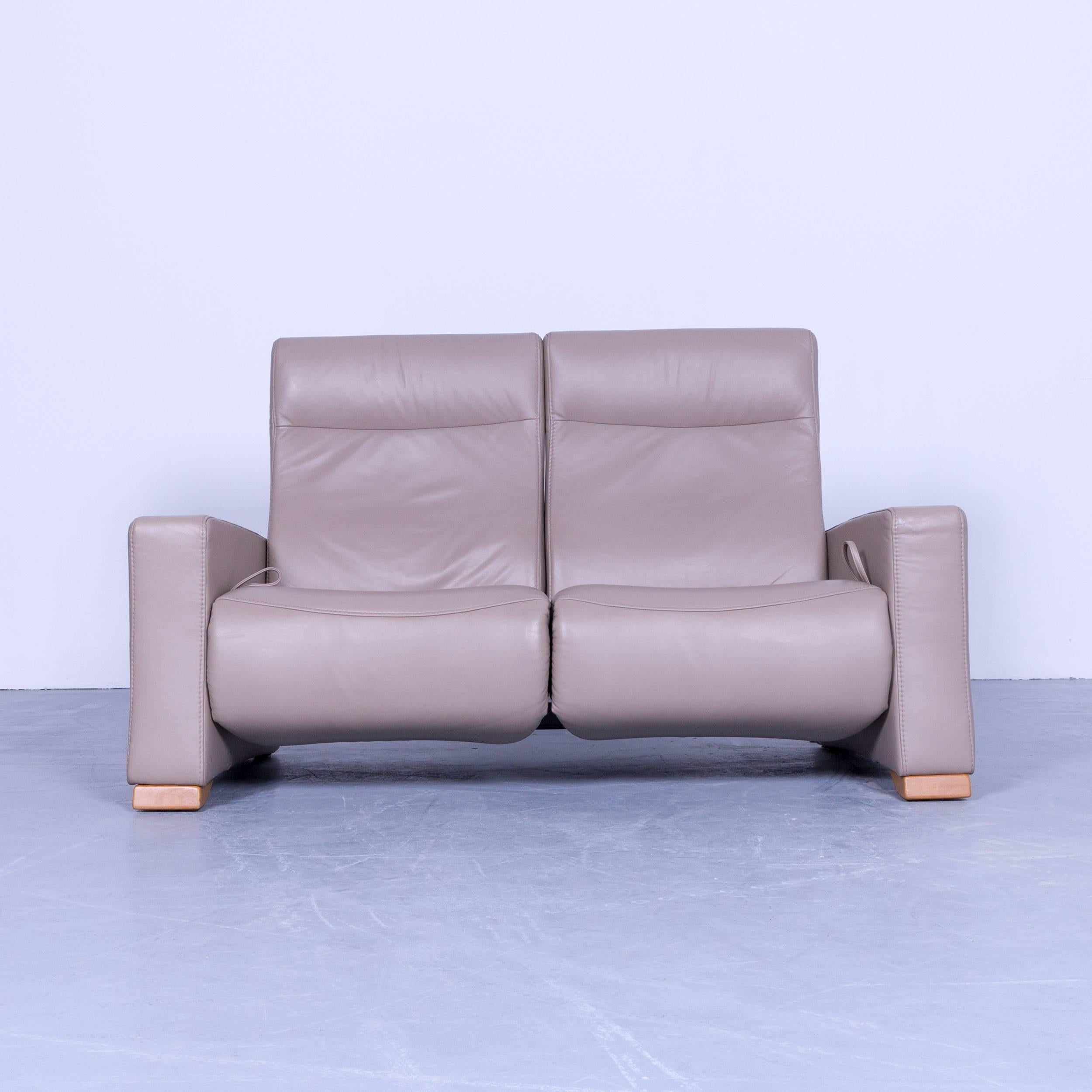 Relax Sofa Himolla Designer Relax Sofa Leather Beige Crème Two Seat Couch Germany Modern