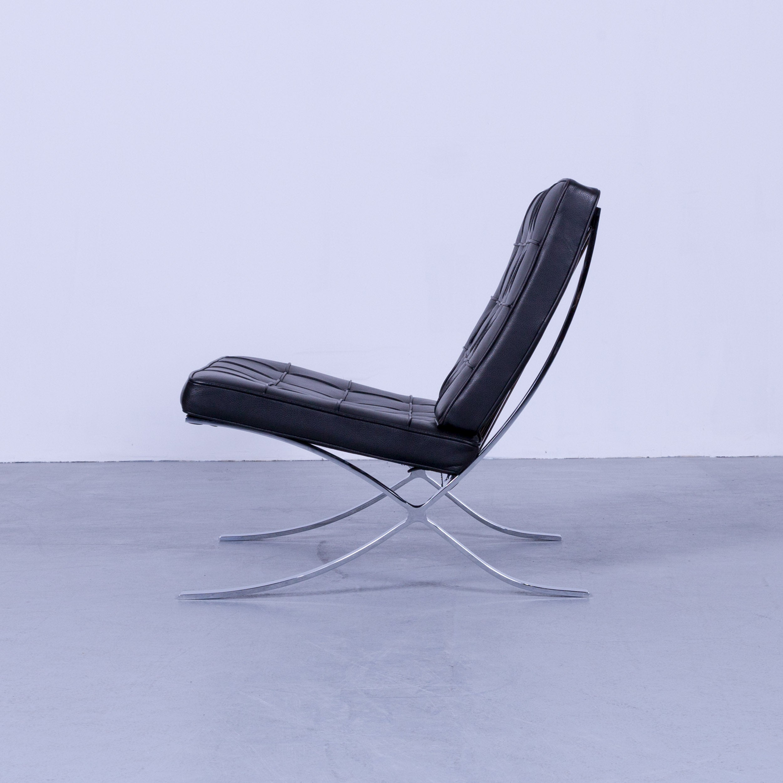 Knoll Sessel Gebraucht Knoll International Barcelona Chair Black Leather Ludwig Mies Van Der Rohe