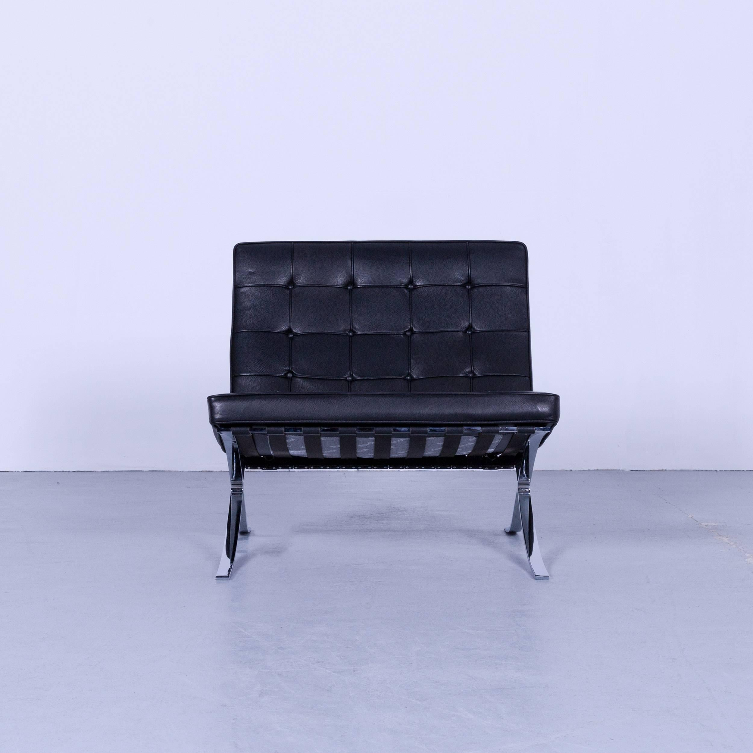 Mies Van Der Rohe Sessel Knoll International Barcelona Chair Black Leather Ludwig Mies Van Der Rohe