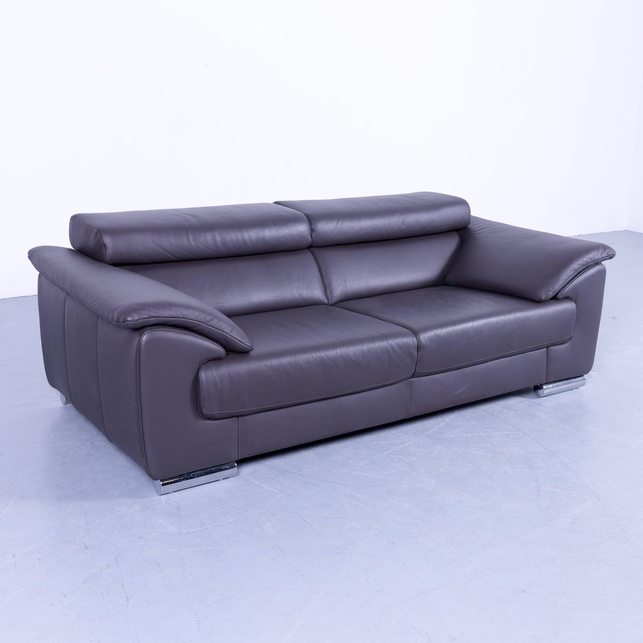 Sofa Couch Grau Designer Ewald Schillig Brand Blues Designer Sofa Anthracite Grey Brown Leather Couch