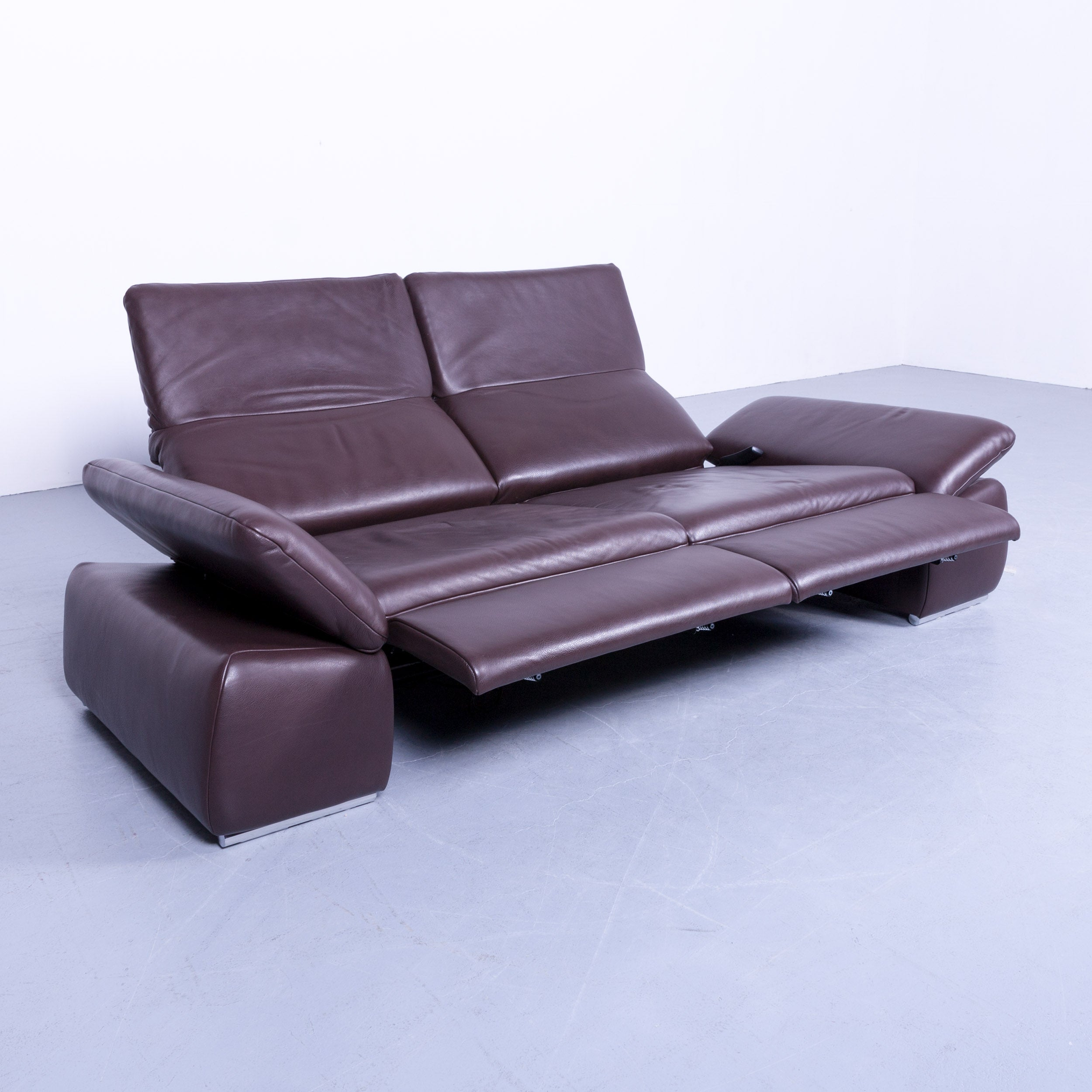 Sofa Sessel Elektrisch Koinor Evento Designer Sofa Brown Mocca Leather Electric Function Modern