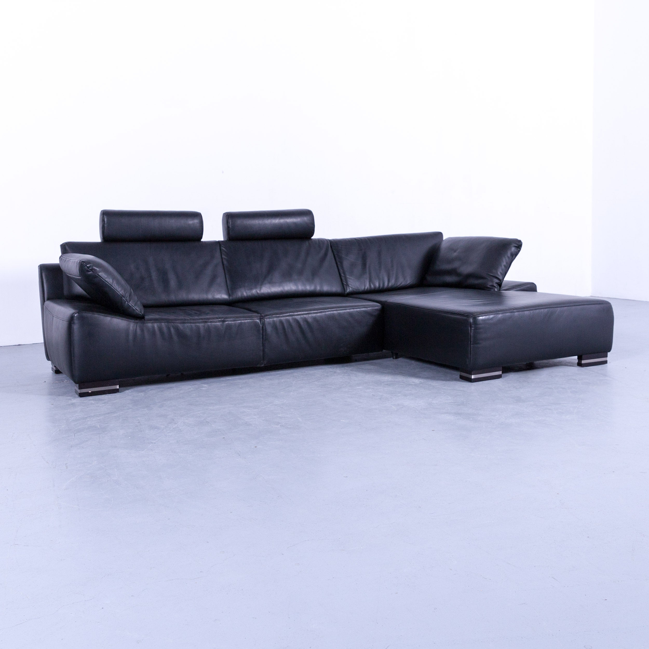 Sofa Funktion Ewald Schillig Bentley Designer Corner Couch Leather Black Funktion Neck Rest