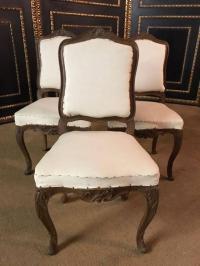 Three Original Baroque Chairs, circa 1740 For Sale at 1stdibs