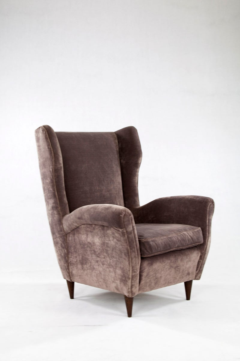 Chintz Sessel Italian Armchairs In The Style Of Gio Ponti