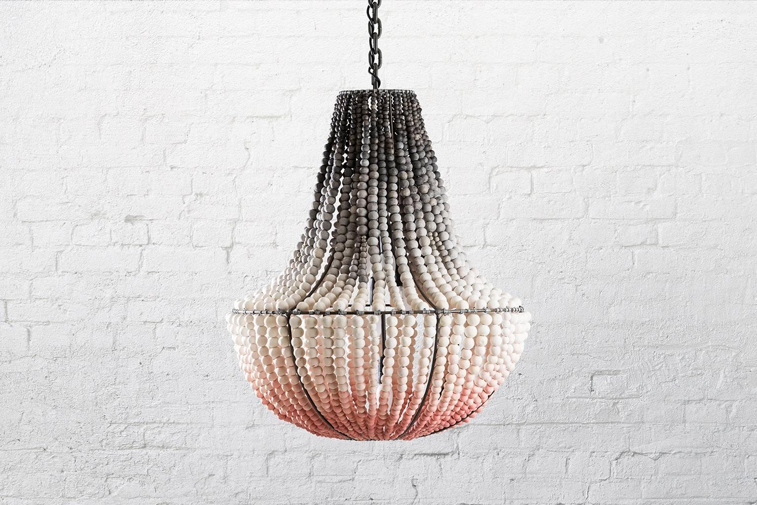 Modern Chandeliers Australia Klaylife Lim Ombre Handmade Clay Beaded Chandelier Hanging Light 21st Century