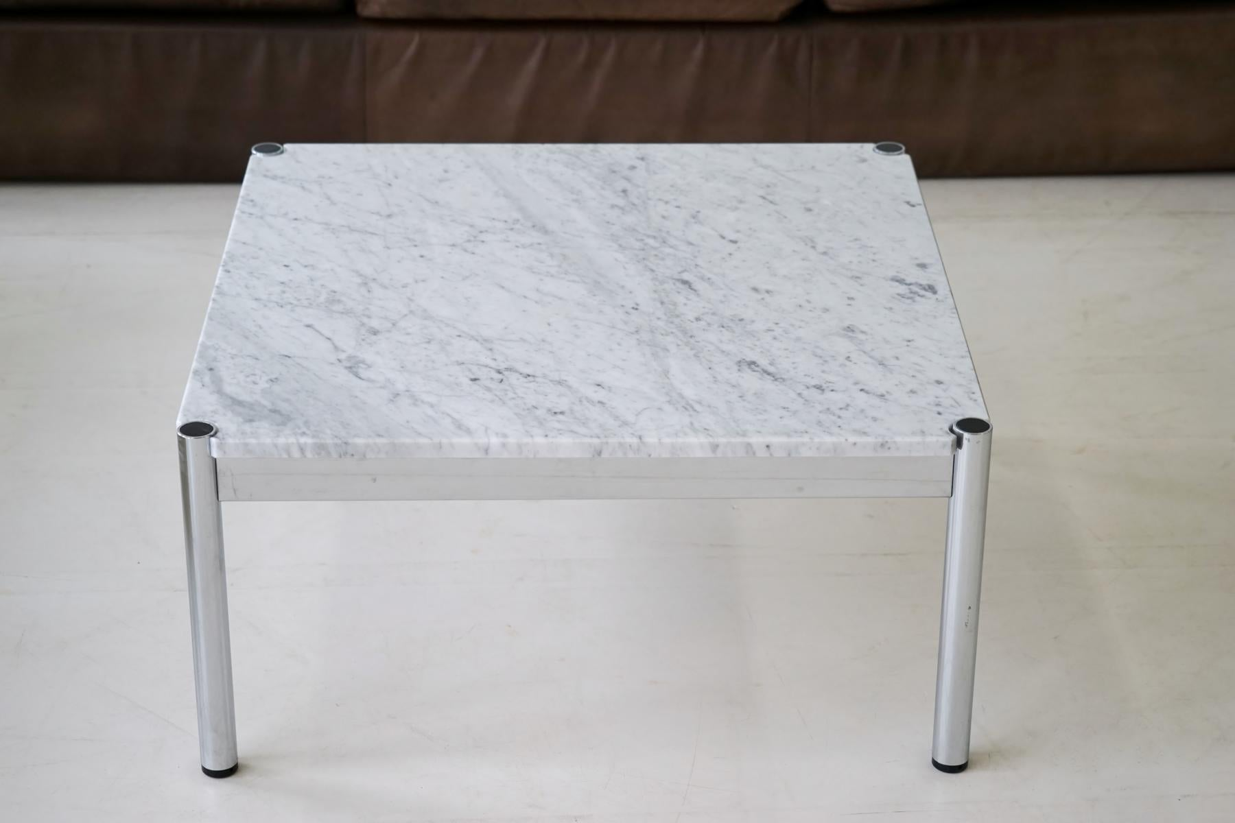 Couchtisch Asia Style Usm Haller Design Carrara Marble Chrome Coffee Couch Sofa Side Table