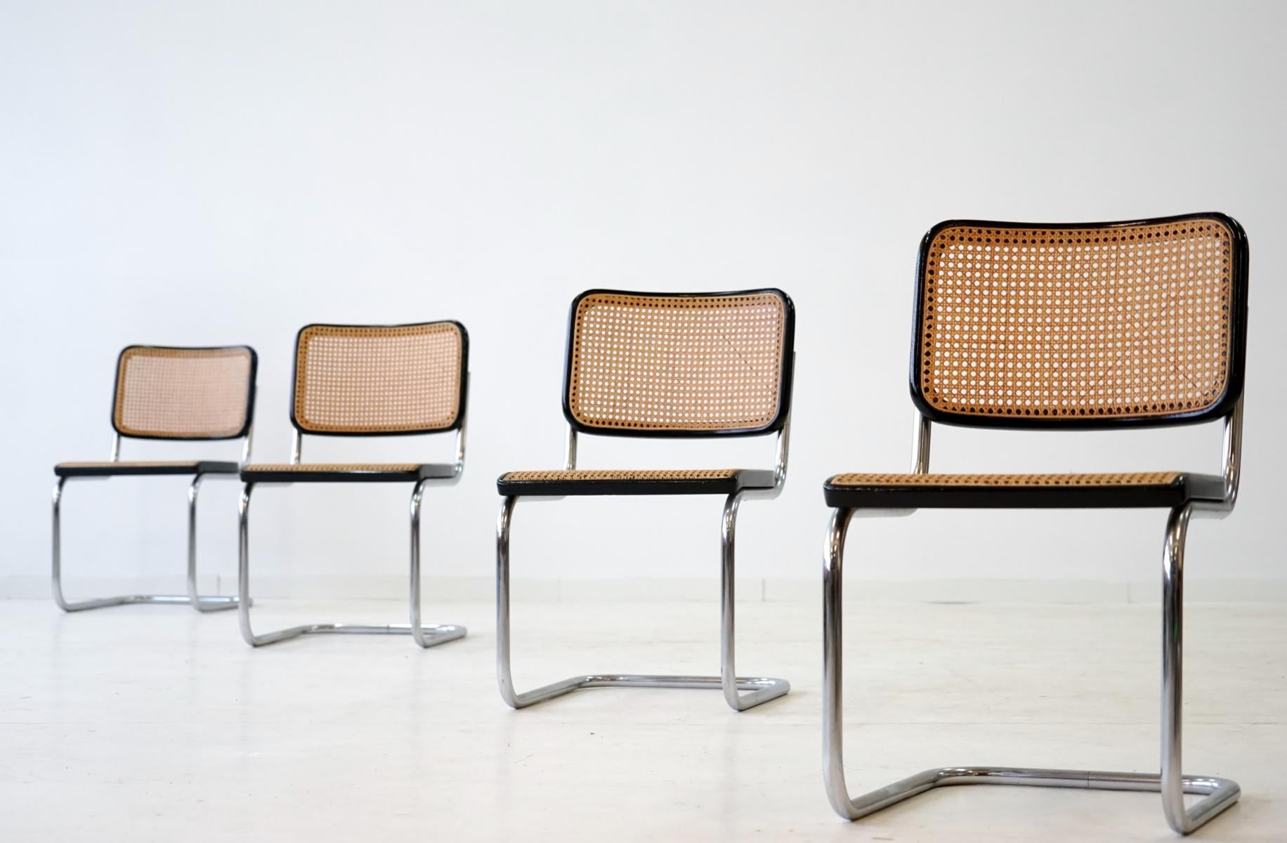 Thonet S32 Set Of Four S 32 Cantilever Chair By Marcel Breuer Mart Stam For Thonet 1920s
