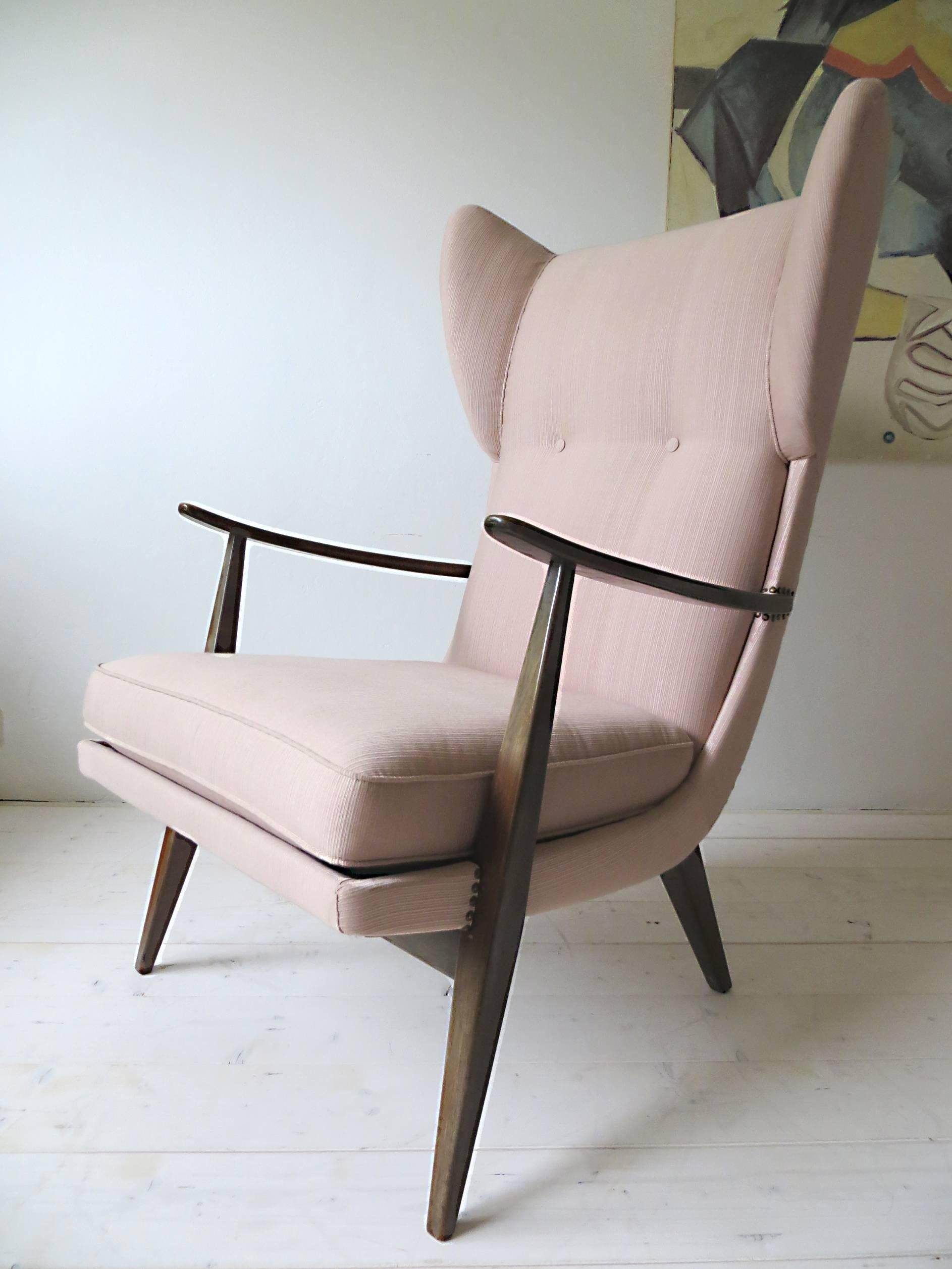 Knoll Sessel Gebraucht 1950s Knoll Antimott Wingback Chair By Walter Knoll In Fine Old Rose