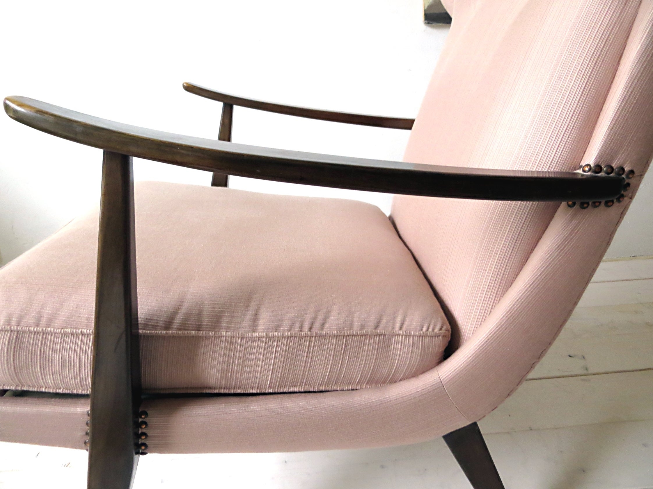 Sessel Knoll 1950er Knoll Antimott Wingback Chair By Walter Knoll In Fine Altrosa