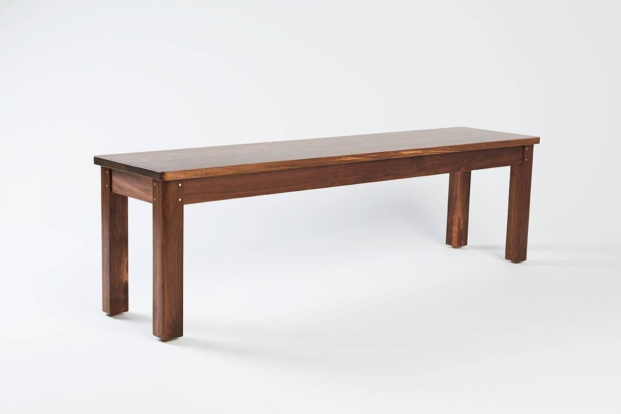 Small Quotlorequot Bench Solid Wood Black Walnut Modern