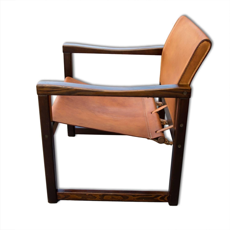 Living room set by Karin Mobring, Cognac Leather Safari