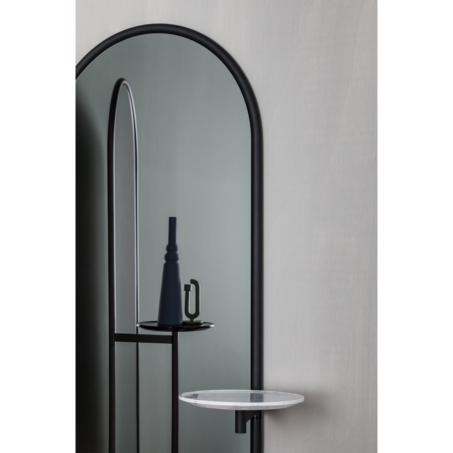 White Floor Mirror Michelle Floor Mirror With Tubular Steel Frame Smoked Mirror And Marble