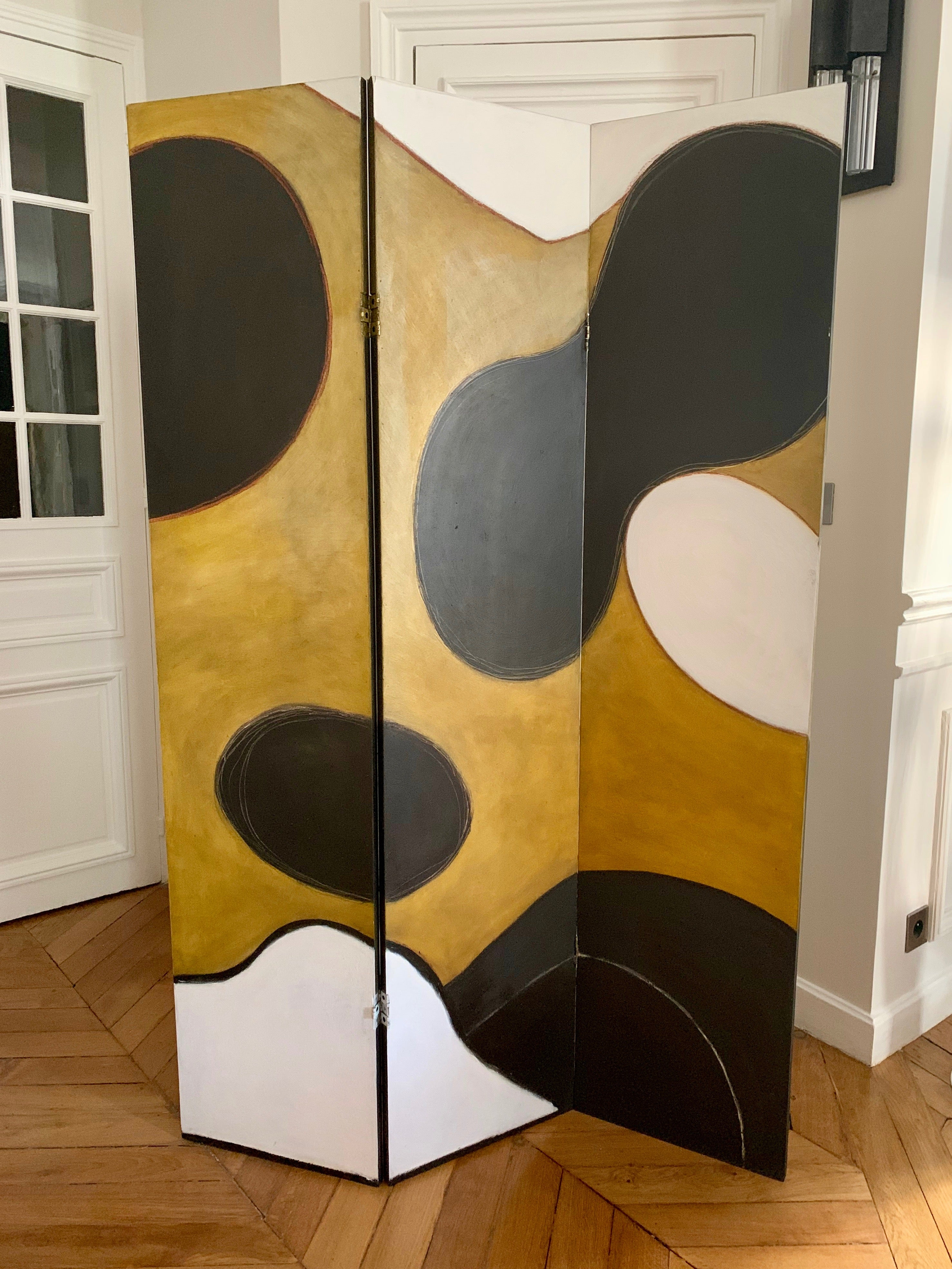 Paravent Xl Dressing Screen Paravent By French Artist Marielle Guégan Room Divider