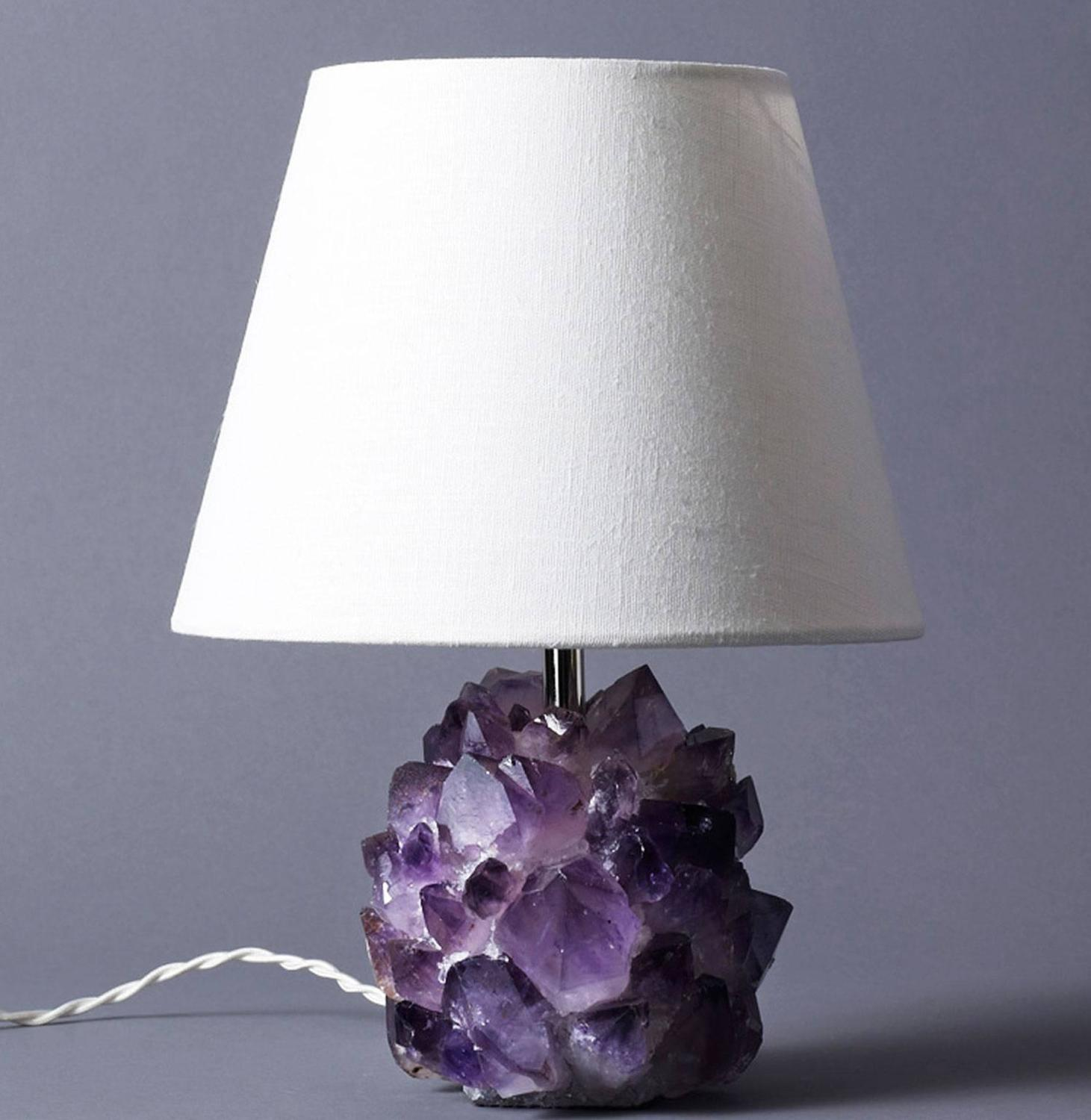Crystal Stone Lamp Liz O 39brien Editions Amethyst Crystal Lamps For Sale At