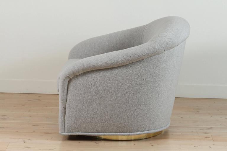 Pair Of Huxley Swivel Chairs By Lawson Fenning For Sale At