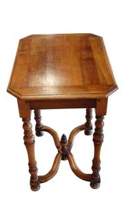 19th Century Walnut Spindle Leg Side Table, Italy at 1stdibs