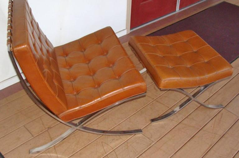 Pair Of Knoll Barcelona Chairs At 1stdibs