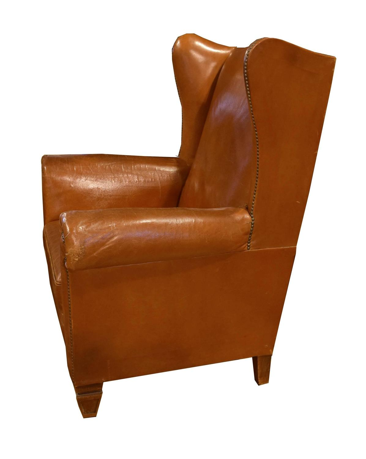 Z Chairs Sale Italian Leather Wingback Chair For Sale At 1stdibs