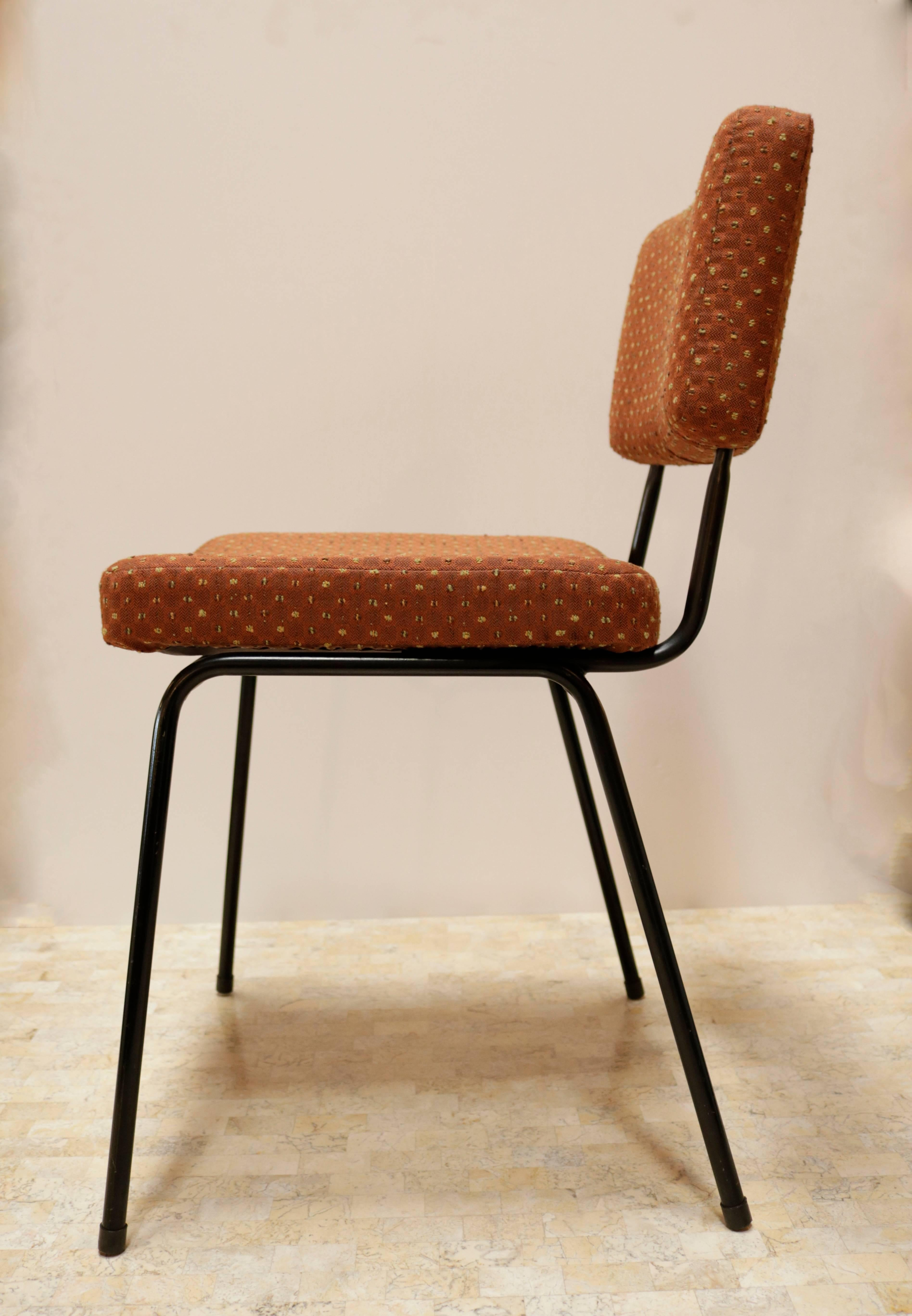 Salon En Pierre 1950s Upholstered Chair By Pierre Guariche For Airborne