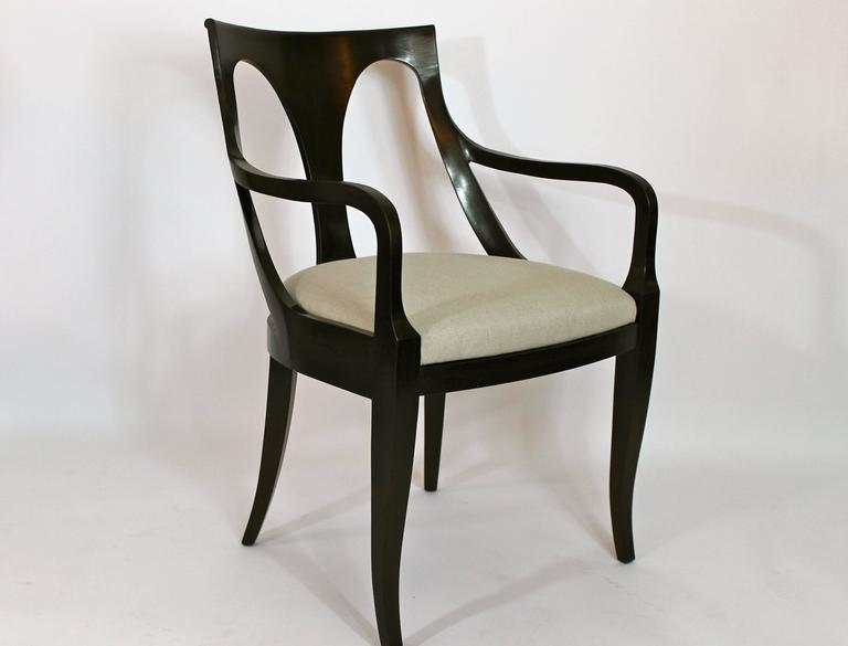 Set Of Six Empire Inspired Dining Chairs By Kindel For