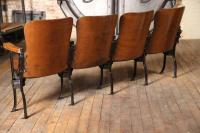 Vintage Original Wood and Steel Folding Theater Seats ...