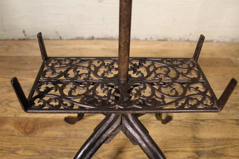 Book Stand Vintage Antique Ornate Cast Iron Adjustable