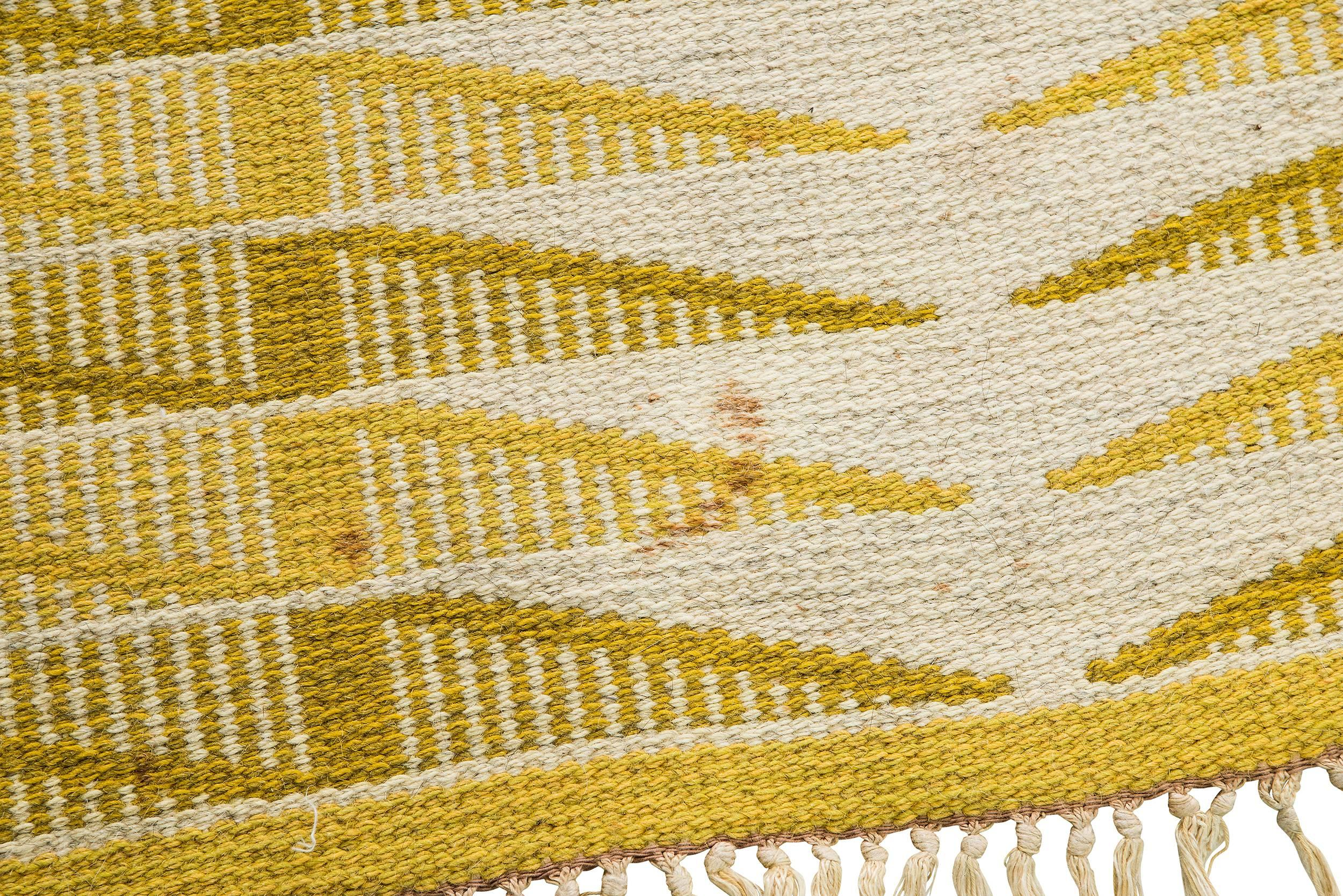 Vintage Swedish Flat Weave Carpet For Sale At 1stdibs