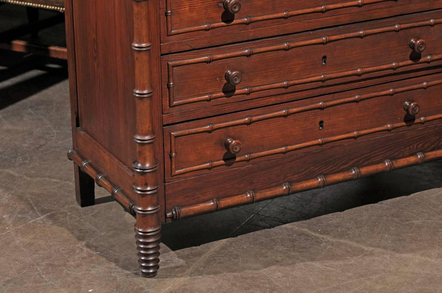 Bambus English English Faux Bamboo Chest For Sale At 1stdibs