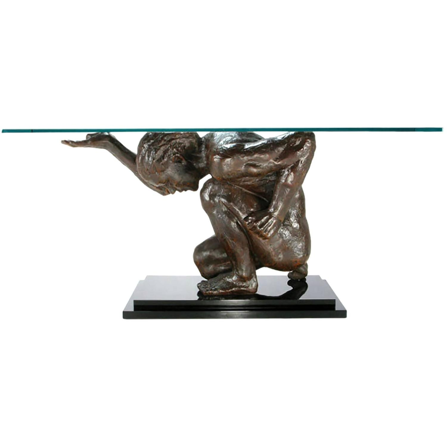 Atlas Statues For Sale Lifesize Bronze Finish Atlas Sculpture Console Table For