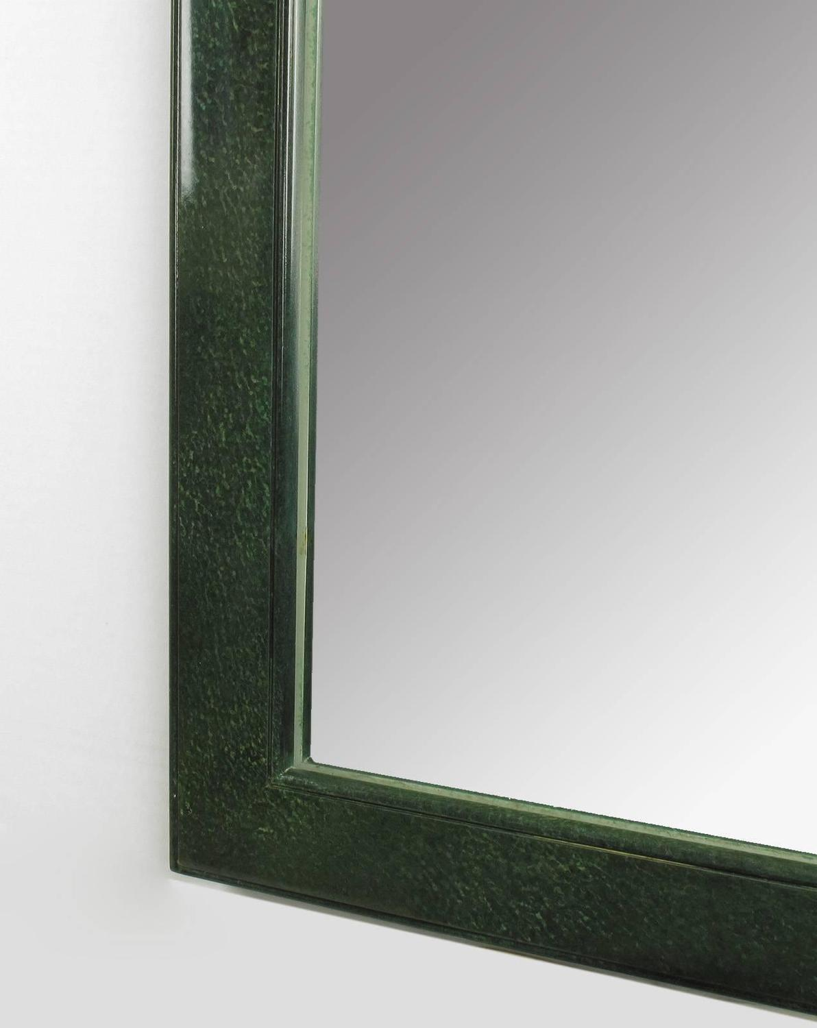 Asian Style Wall Mirrors Large Stippled Green Lacquer Chinese Style Mirror With