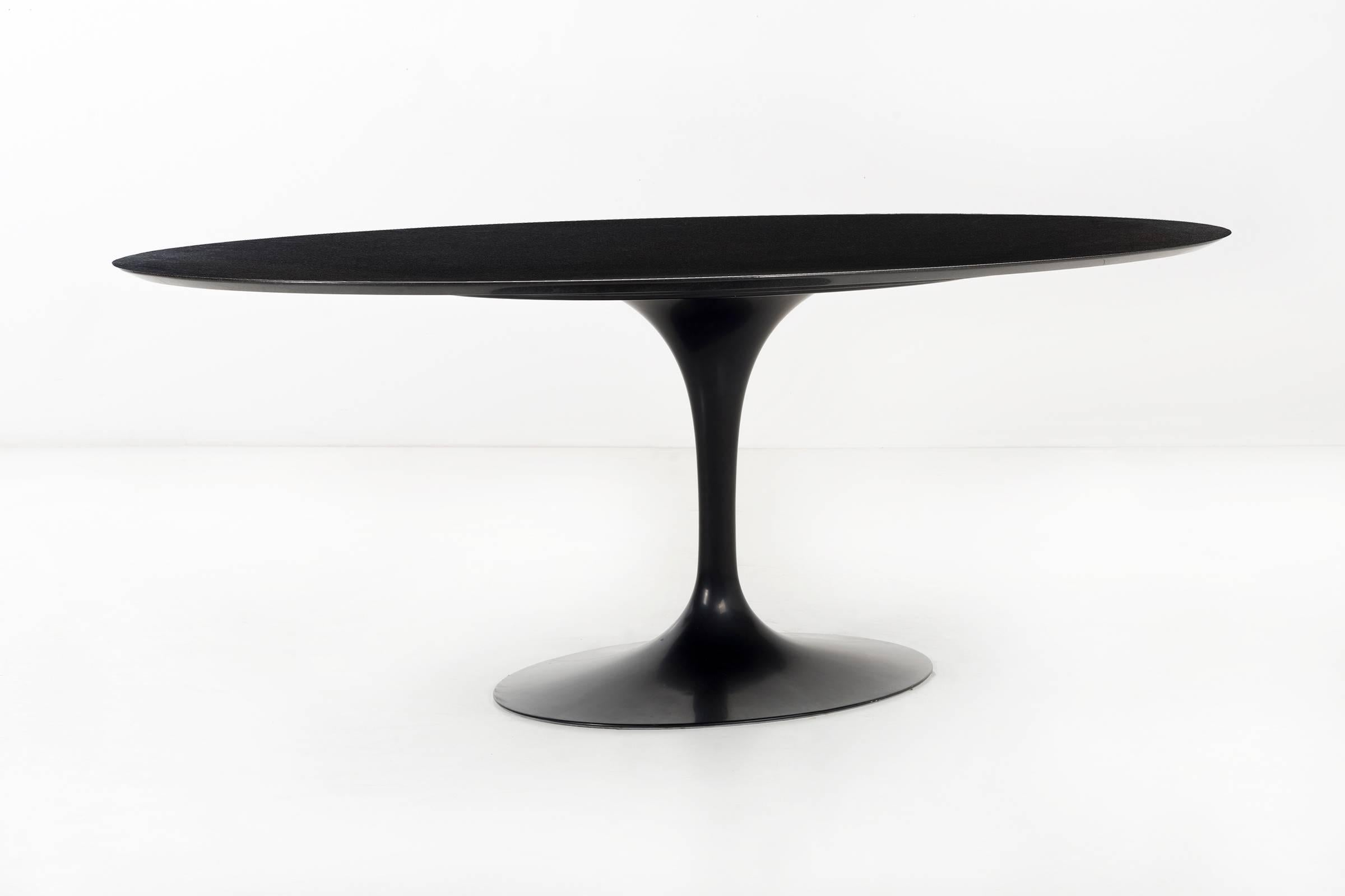 Eero Saarinen Black Granite Tulip Table For Sale At 1stdibs
