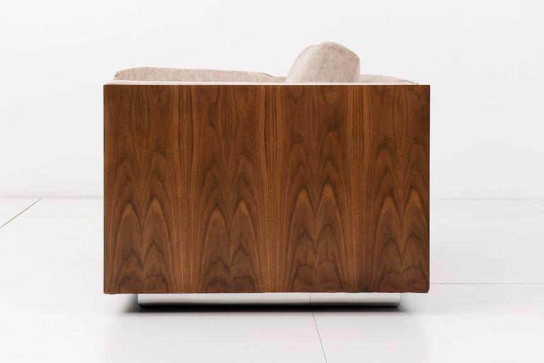 Milo Baughman Rosewood Case Settee For Sale at 1stdibs - rosewood case