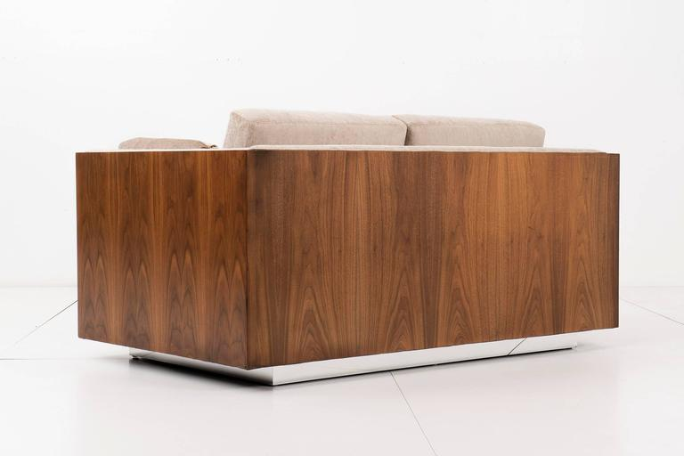 Milo Baughman Rosewood Case Settee For Sale at 1stdibs
