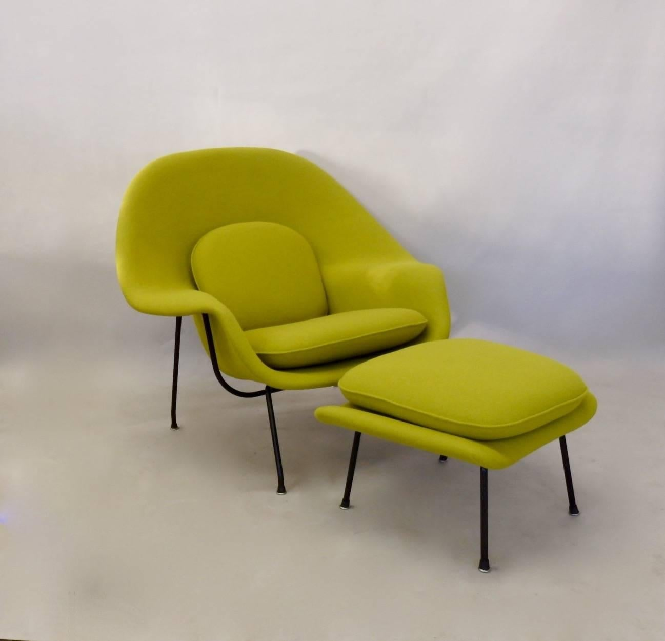 Second Hand Sessel Black Leg Eero Saarinen Early 1950s Knoll Womb Chair For
