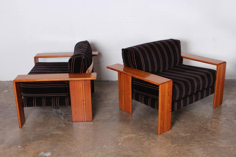 Pair Of Lounge Chairs By Afra And Tobias Scarpa For Sale