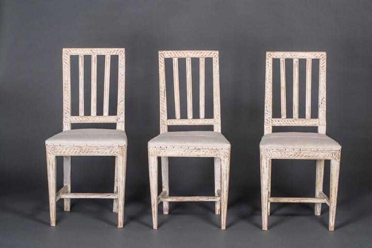 Set Of Six Gustavian Chairs At 1stdibs