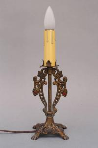 Pair of Finely Cast Spanish Revival Table Lamps at 1stdibs