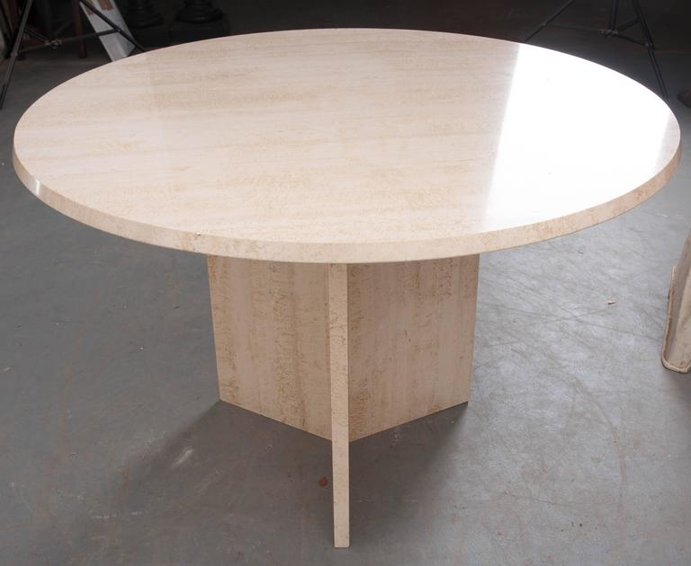 Early 20th Century French Round Stone Dining Table At 1stdibs