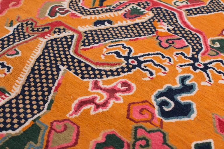 Tibetan Dragon Rug With Natural Dyes For Sale At 1stdibs