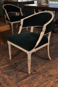 Swedish Gustavian Barrel Back Chairs For Sale at 1stdibs