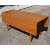 Danish Mid-Century Modern Drop Leaf Dining Table For Sale ...
