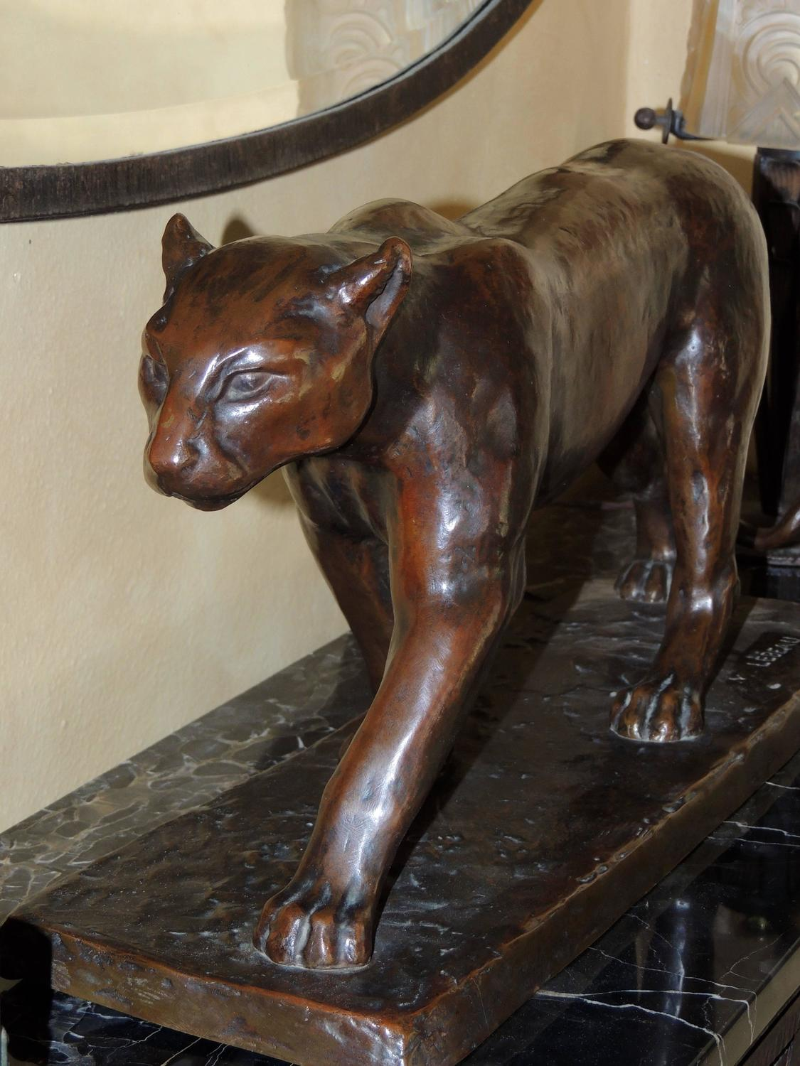 Panther Statue For Sale Art Deco Bronze Panther Statue By M Lebeau For Sale At