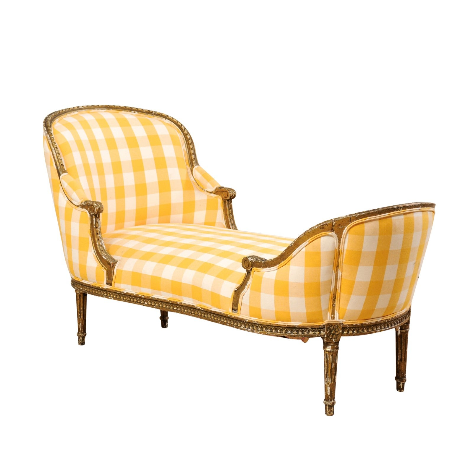 Chaise Style Louis 16 French Turn Of The Century Louis Xvi Style Chaise Longue Of Carved Wood
