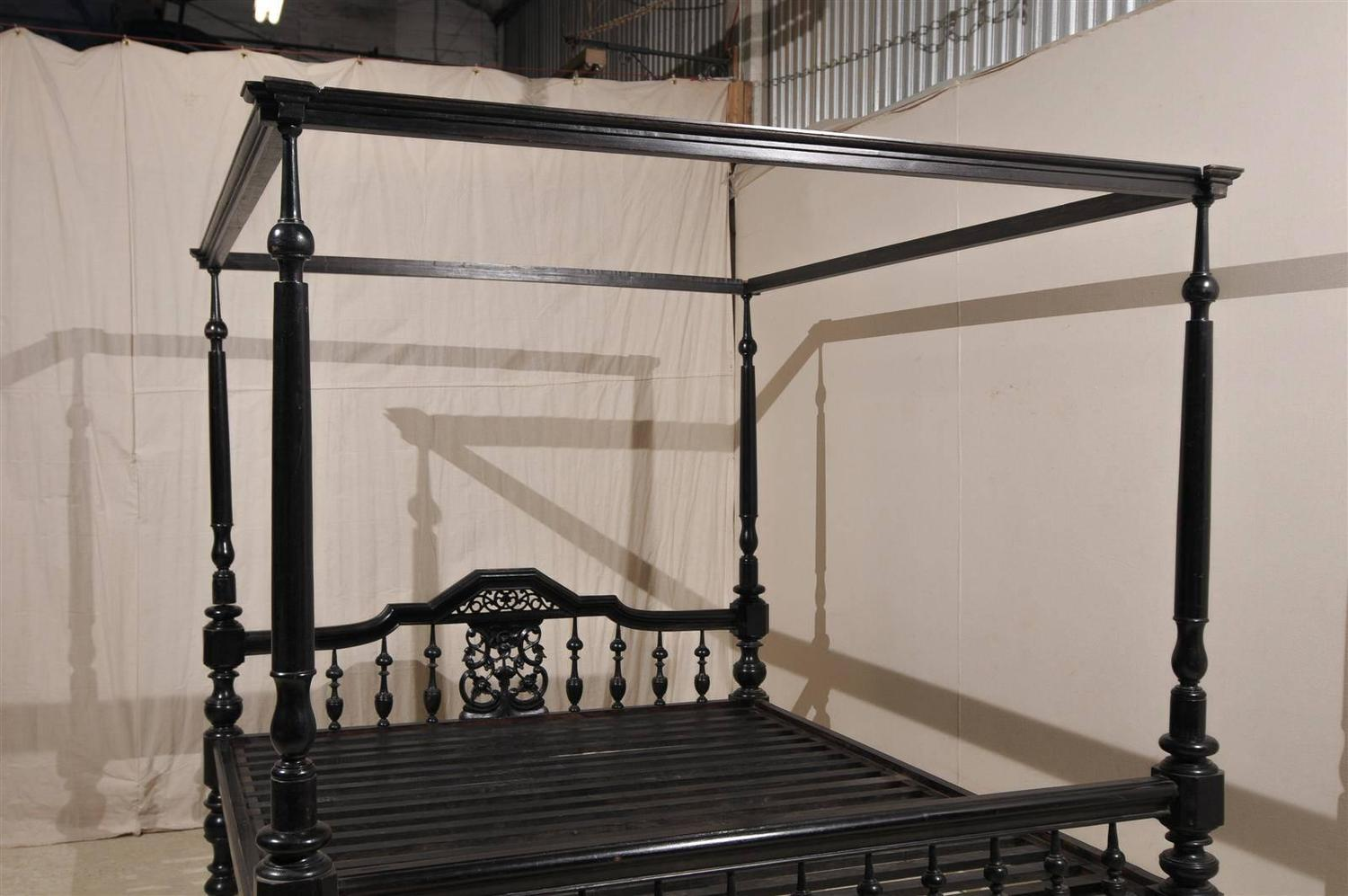 Black Four Post Bed Antique Black Four Post Canopy Style Bed At 1stdibs