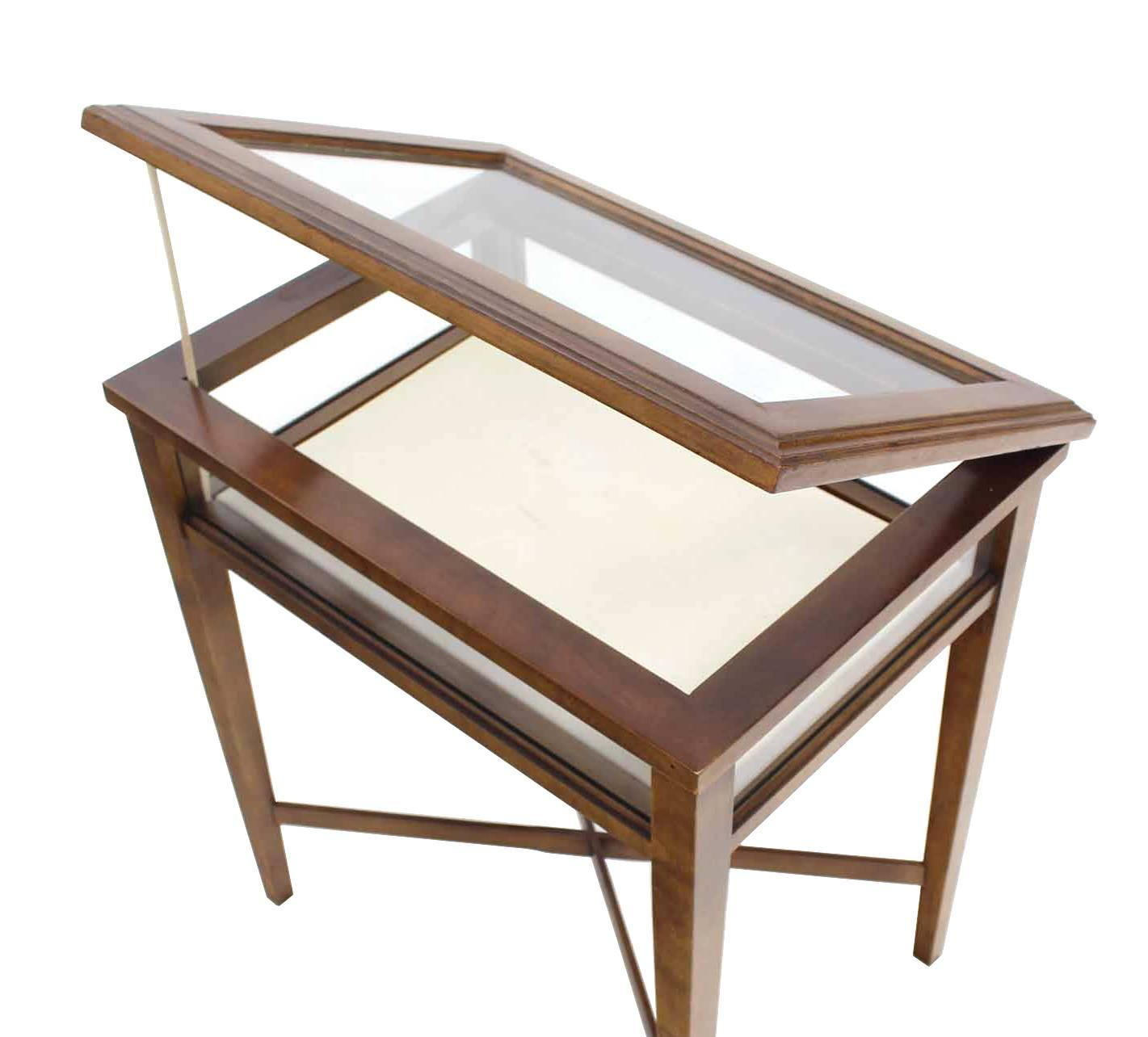 Display Case End Table Small Lift Top End Table Display Case For Sale At 1stdibs